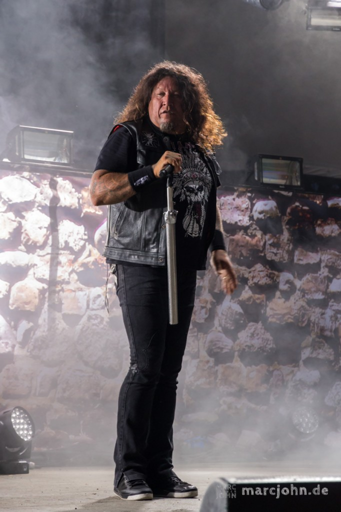 LORELEY, GERMANY - June, 20th 2013 - Testament at the Metalfest Open Air Germany - Chuck Billy, Vocals