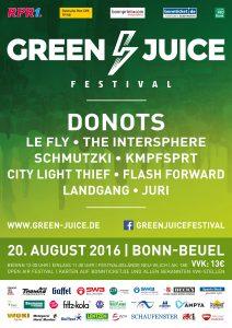 Plakat Green Juice Festival 2016